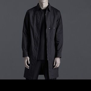 Tech wear long coat